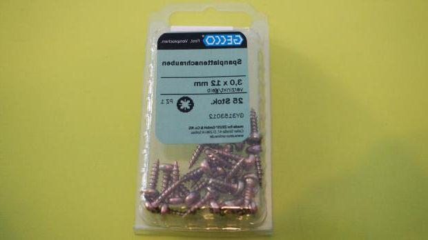 Matching chipboard screws