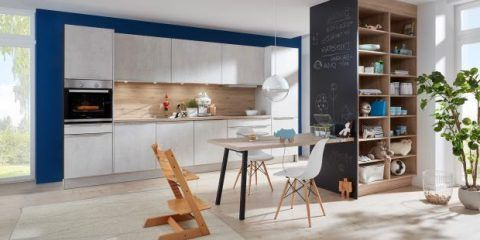 Simple one-row kitchen