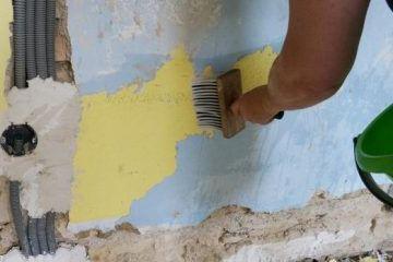 Wet wallpaper